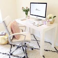 girly office. Monochrome Office Desk Girly