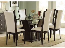 rectangular glass dining room table design ideas and white dining chairs with high backs