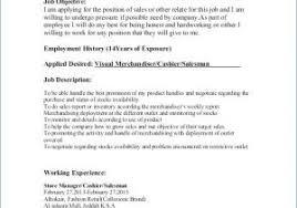 Fashion Merchandising Resume From Visual Merchandising Job