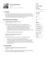 Cv Exemplars Resume Hairdresser Resume Sample Example Template Cv