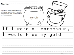 template of a leprechaun if i were a lucky leprechaun writing template madebyteachers