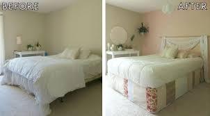 diy bedroom makeover. before after parsons desk round world market bathmat wall hanging peace lilies macrame patchwork bedskirt crochet diy bedroom makeover i