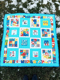 306 best dr seuss images on Pinterest | Dr suess, Baby quilts and ... & Dr. Seuss Baby Quilt by TheSwankyBlankie on Etsy Adamdwight.com