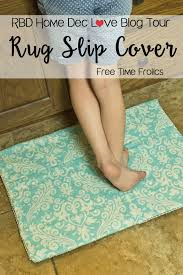 Fabric Rug Diy Simple No Slip Rug Cover Free Time Frolics