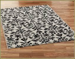 damask area rug black and white