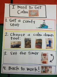 Cool Down Chart Autism Spectrum Disorder Classroom