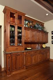 thumb misc traditional style knotty alder medium color raised panel hutch china buffet area glass doors