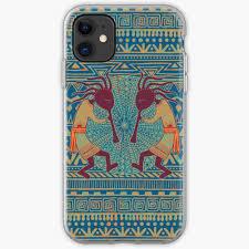Native American Design Phone Cases Native American Kokopelli Ethno Border Pattern 3 Iphone Case Cover