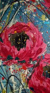 abstract flower painting pallet knife
