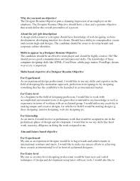 What Should You Put Under Objective On Resume Objectives To A I In