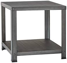 industrial furniture style. Ashley Furniture Signature Design - Hattney Vintage Casual Square End  Table Industrial Style Industrial Furniture Style