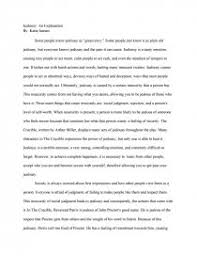 an explination of jealousy in the crucible term papers zoom