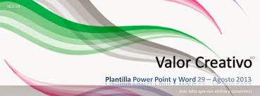 Plantillas Power Point 2013 Valor Creativo Plantilla Power Point Agosto 2013