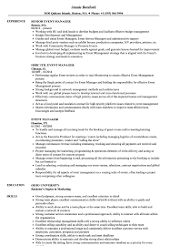 Event Manager Resume Samples Velvet Jobs