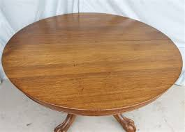 antique round oak dining table claw feet 52 with 2