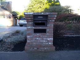 stone mailbox designs. The Brick Mailbox Designs For Classics House : Lake Oswego Locking Stone
