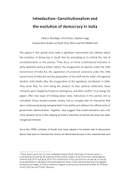 Pdf Introduction Constitutionalism And The Evolution Of Democracy