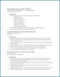 Resume Summary Heavy Equipment Operator Construction Examples ...