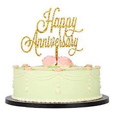 Amazoncom Lxzs Bh Gold Glitter Acrylic Happy Anniversary Birthday