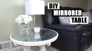 diy mirrored furniture. DIY Mirror Furniture How To Turn Glass Into A Mirrored Nightstand Side Table YouTube Diy