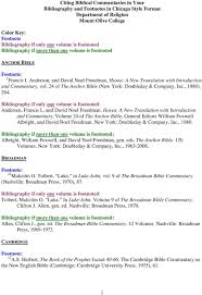Citing Biblical Commentaries In Your Bibliography And Footnotes In