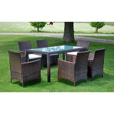 image is loading vidaxl outdoor dining set 13 piece poly rattan