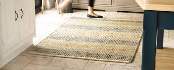 natural jute rug with a flat woven pile on a floor