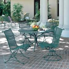 wrought iron outdoor dining chairs creative green wrought iron patio furniture of large round garden image of creative green wrought iron patio furniture of