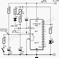 flip flop timer using 4017 eeweb community 4017 wiring diagram at 4017 Wiring Diagram