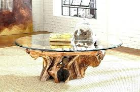 tree stump coffee table with glass top tree stump coffee table with glass top tree stump