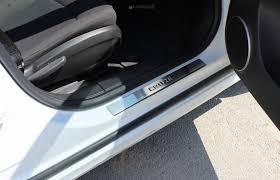 Chevrolet Cruze <b>Накладки на пороги</b> нерж. <b>OMSA</b>