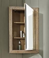 Fairmont Designs 142-CMC18 Rustic Chic 18 Inch Corner Medicine Cabinet In  Weathered Oak