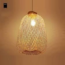 asian pendant lighting. Bamboo Wicker Rattan Bag Pendant Light Fixture Rustic Asian Chinese Style Hanging Lamp Avize Luminaria Indoor Lighting I