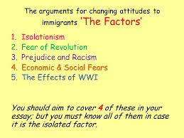 usa higher history usa changing attitudes to immigration why did  4 the arguments for changing attitudes to immigrants