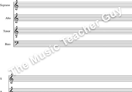 Blank Treble Clef Music Staff Blank Treble Clef Staff Paper Musical Intervals