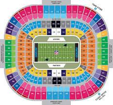 Boa Stadium Map Bank Of America Stadium Seat Map North