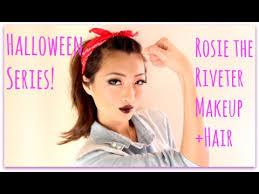 series rosie the riveter makeup hair tutorial