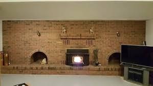brick wall with fireplace fireplaces ideas makeovers makeover e23 brick