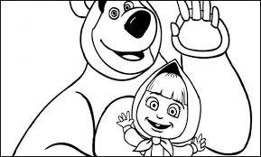 Disegni Di Masha E Orso Da Colorare Masha E Orso In Giochi Gratis