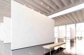 contemporary art furniture. Image Exposition Modern Gallery,open Space.Blank White Empty Canvas Hanging Contemporary Art Museum Furniture I