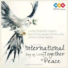 #internationaldayoflivingtogetherinpeace hashtag on Twitter
