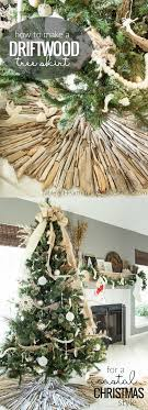 How to Make a Coastal Style Rustic Driftwood Christmas Tree Skirt ...