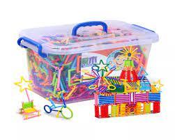 Bộ đồ chơi xếp hình que sáng tạo nhiều chi tiết cho trẻ em từ 3 tuổi - ghép  hình thông minh cho bé sáng tạo phát triển.