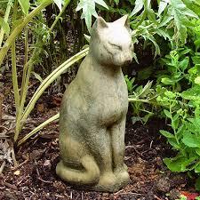 cat garden statue. Large Stone Tomb Cat Garden Statue T