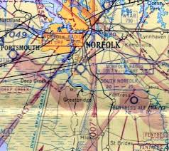 Virginia Aeronautical Chart Abandoned Little Known Airfields Virginia Norfolk Area