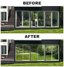 x silver one way mirror static cling window sliding glass door tint doors should i