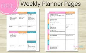 Free Weekly Planner Printable Busy Life Planners