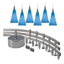 blue track lighting. Low-Voltage 300-Watt Monorail Kit With 6 Blue Pendants Track Lighting D