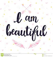 I Am Beautiful Quote Best Of I Am Beautiful Inspirational Quote Hand Drawn Lettering