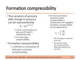 compressibility definition. 12. porosity definition compressibility m